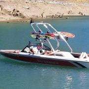 Big Air Cuda wakeboard tower - 1989 Ski Sanger DX - Polished Aluminum (3)
