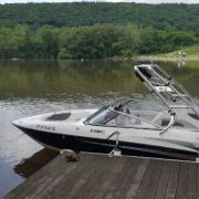 Big Air Cuda tower - 2005 Yamaha SX230 - Collapsible Bimini - Polished Aluminum - wakeboard tower (2)