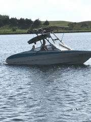 Big Air Fusion Tower - 1993 Bayliner Capri 185 - Stainless Steel - wakeboard tower (3)