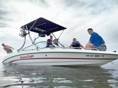 Big Air Fusion tower - Super Shadow Bimini - 1996 Mastercraft Maristar VRS 225 - Stainless Steel - wakeboard tower