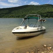 Big Air H2O Tower - 1996 Rinker 182 - Stainless Steel - wakeboard tower (1)