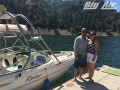 Big Air H2O tower - 2002 Rinker Captiva 212 - Stainless Steel - Wakeboard-Tower