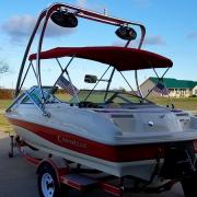 Big Air Haus tower - 1998 Caravelle 188 - Polished Aluminum - wakeboard tower (2)