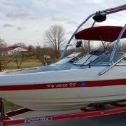 Big Air Haus tower - 1998 Caravelle 188 - Polished Aluminum - wakeboard tower (3)