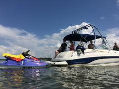 Big Air Haus tower - 2002 Chaparral 243 Sunesta - Polished Aluminum - wakeboard tower (2)