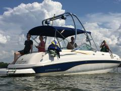 Big Air Haus tower - 2002 Chaparral 243 Sunesta - Polished Aluminum - wakeboard tower (3)