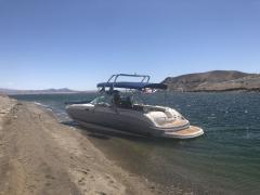 Big Air Haus tower - 2004 Chaparral Sunesta 274 - Polished Aluminum - wakeboard tower