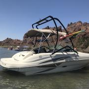 Big Air Haus Tower - 2004 SeaRay 200 Sundeck - Black Aluminum - wakeboard tower (1)