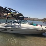 Big Air Haus Tower - 2004 SeaRay 200 Sundeck - Black Aluminum - wakeboard tower (2)