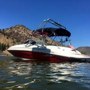Big Air Haus Tower - 2005 SeaRay 220 Sundeck - Polished Anodized Aluminum - Wakeboard tower