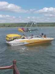 Big Air Haus Tower - 2013 Tahoe Q5si - Polished Aluminum - wakeboard tower