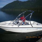 Big Air Ice tower - Bayliner - 175 - Polished Aluminum - Wakeboard tower