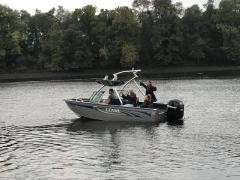 Big Air Predator Tower - Lowe Boat - Polished Aluminum - wakeboard tower (3)
