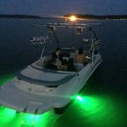 Big Air Storm tower - 2008 Sea Ray 185 Sport - Polished Aluminum - wakeboard tower - underwater led lights