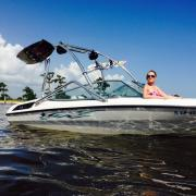 Big Air Vapor tower - 1995 Chaparral 180SL - Polished Aluminum - Wakeboard tower (1)
