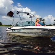Big Air Vapor tower - 1995 Chaparral 180SL - Polished Aluminum - Wakeboard tower (2)